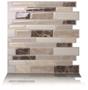 Tic Tac Tiles Anti-mould Peel and Stick Wall Tile in Polito Bella