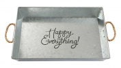 Brownlow Kitchen Happy Everything Large Galvanised Metal Serving Tray