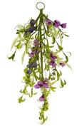 Renaissance 2000 Purple Door Swag Wild Flower, 60cm L x 2.5cm H x 60cm W
