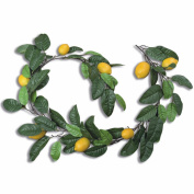 The Realistic Lemon Fruit Garland Swag, Rustic Vine, Approximately 1.5m Long, Mixed Materials, By Whole House Worlds