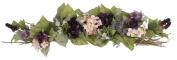 70cm Elegant Rose/Hydrangea/Eustoma Swag - Pink/Plum