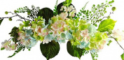 70cm Blue/Green/Pink Hydrangea Swag