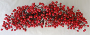 70cm Christmas Red Berry Swag