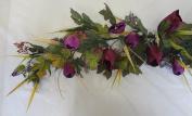 90cm Designer Purple Tulip Flower Swag