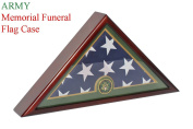 Army Flag Display Case for 1.5m X 2.9m Memorial Burial Funeral Flag - Mahogany Finish FC59-MAH
