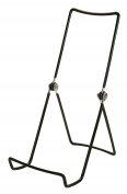 6 Gibson Holders Adjustable Wire Display Easels- 9.5cm W x 20cm H with 5.7cm display ledge, Black