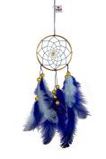 Rooh Dream Catcher - Blue & Brass ~ Handmade Hangings for Positivity