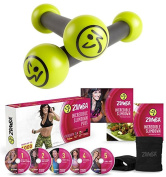 Bundle Includes 2 Items - Zumba Toning Sticks (Multi, 0.5kg) and Zumba Fitness Incredible Slimdown DVD System