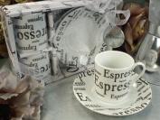 2 Cup 2 Saucer PVC Box Espresso