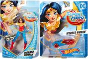 Hot Wheels DC Comics Super Hero Girls Character Car - Wonder Woman + 15cm Action Figure with Magic Lasso