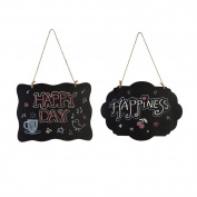 LianLe 2Pcs Chalkboard Sign Double-Sided Message Board with Hanging String
