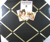 The French Memo Board - A Creative Display for Photos, Mementos, Greeting Cards and Much More- Solid Black- Factory Sealed
