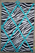 Zebra with Turquoise French / Memo Board