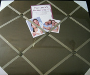 The French Memo Board-a Creative Display for Photos, Mementos, Greeting Cards and Much More-Solid Brown- Factory Sealed