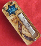 Yourholylandstore Star of David Car Mezuzah with Scroll by YourHolyLandStore