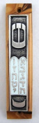 Olive Wood Ten Commandments (Tablets of the Covenant) Mezuzah with Scroll