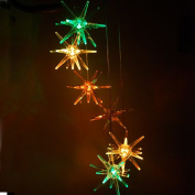 Clear Urchin Star LED Solar Wind Spinner Light Colour Changing Wind Chimes for Out Door Gardent Decoration