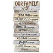 Lighthouse Christian Products Our Family Will Medium Wall Decor, 22cm x 42cm