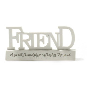 Friend Friendship Refreshes the Soul Proverbs 27 Resin Stone Tabletop Word Plaque