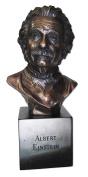 Blue Sky Ceramic Albert Einstein Decor Bust, 15cm x 11cm x 32cm , Bronze