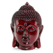 Smiling Meditating Buddha Shakyamuni Head Statue 13cm Tall Blessing Mercy & Love Peaceful - We Pay Your Sales Tax
