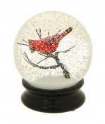 11cm Cardinal on a Branch Water Globe