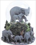 Elephants Musical Snow Globe - Born Free