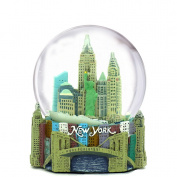 """Mini New York City Snow Globe NYC Skyline in this Souvenir Figurine with Statue of Liberty, 2.5"""" Tall"""