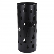Umbrella Holder Stand, Outgeek Metal Umbrella Holder Long/Short Umbrella Rack Home Office Decor with Drip Tray and Hooks, Black