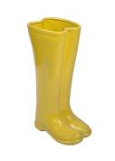 Ceramic Boots Umbrella Stand, 30cm x 18cm x 48cm , Yellow