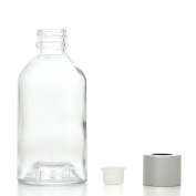 Hosley Aromatherapy Glass Diffuser Bottles. With Stopper Cap, Set of 4, 85 ml Boston Round style. Empty. Great for storing Essential Oils, DIY Diffusers, Craft Projects, Wedding, Party
