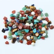 80Pcs Irregular Shape Tumbled Polished Natural Stones Assorted Mix - Small Size