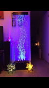 180cm x 48cm XXL dancing Bubble Fountain, floor Standing, Colour Lights/ Remote Ctrl By Jersey Home Decor
