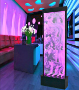 Fountain Bubble Wall Display Panel 180cm Free Standing Multi Colour LED Light Restaurant Bar Club Entry Foyer Model SD-P48