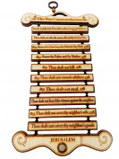 Special Gifts at Good Friday. Wooden Ten Commandments Pine Wood Wall Hanging ,Wall