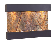 Reflection Creek Water Feature with Antique Bronze Trim and Square Edges