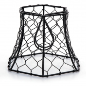 Metal Chickenwire Hexagon Lampshade 5.75x4-