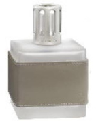 GREY LEATHER CUBE Fragrance Lamp by Lampe Berger