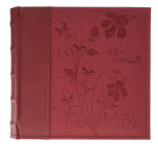 Golden State Art Photo Album, Holds 200 10cm x 15cm Pictures, 2 Per Page, Faux Leather Vintage Inspired Cover, P52028-7 Marron