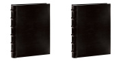 : Pioneer Sewn Bonded Leather BookBound Bi-Directional Photo Album, Holds 300 10cm x 15cm Photos, 3 Per Page. Colour