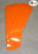 Pathfinder Carbon Arrow Wraps 10cm Lt Flo Orange Pkg/12