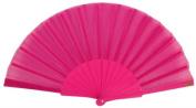 "Just Artefacts Decorative 9"" Folding Silk Hand Fans w/ Plastic Handle"