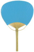 Quasimoon 23cm Turquoise Paddle Paper Hand Fans for Weddings (10 Pack) by PaperLanternStore