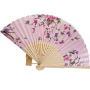 Sunward(TM) Japanese Cherry Blossom Folding Hand Fans Dancing Wedding Party Decor Fan
