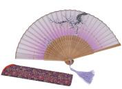Amajiji 21cm Chinese Japanese Vintage Retro Style Handheld Folding Fan