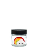 420 Science - Clear Screw Top Stash Jar with Rainbow Decal - Assorted Sizes