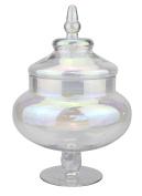 Stonebriar Lustre Glass Round Apothecary Jar, Large