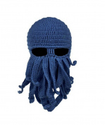 Fashionclubs Fashionclubs Women Men Winter Warm Octopus Entacle Beanie Wind Mask Knit Hat Cthulhu Fisher Cap