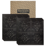 Genesis - Antique Black 2x2 Ceiling Tiles 3 mm thick (carton of 12) – These 2'x2' Drop Ceiling Tiles are Water Proof and Won't Break - Fast and Easy Installation