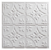Genesis - Antique White 2x2 Ceiling Tiles 3 mm thick (carton of 12) – These 2'x2' Drop Ceiling Tiles are Water Proof and Won't Break - Fast and Easy Installation